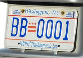 2001 optional plate no. BB-0001