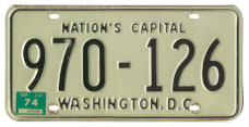 1968 (exp. 3-31-69) Passenger plate no. 970-126 validated for 1973 (exp. 3-31-74)