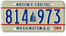 1978 Passenger plate no. 814-973 validated for 1983-84 (exp. 3-31-1984)