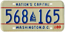 1978 Passenger plate no. 568-165 validated for 1979-80 (exp. 3-31-80)