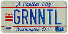 1984 base Personalized plate no. GRNNTL validated through Jan. 1997