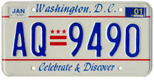 1991 Passenger plate no. AQ-9490 validated for 2000-01 (exp. Jan. 2001)