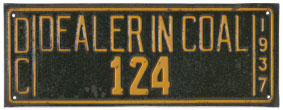 1937 Coal Dealer permit no. 124