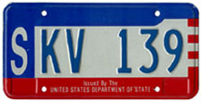 c.1984 OFM Diplomatic Staff license plate (assigned to the Saudi Arabia embassy)