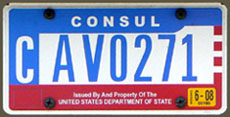 Office of foreign missions diplomatic license plates for Consul license