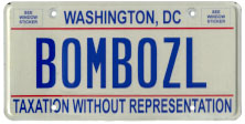 2000 base (flat style) Personalized plate no. BOMBOZL