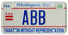 2000 base Personalized plate no. ABB validated through Feb. 2003