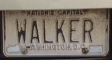 1968 base Personalized plate no. WALKER