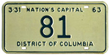 1962 Reserved plate no. 81