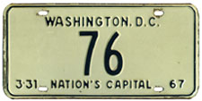 1966 reserved plate no. 76