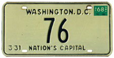 1967 reserved plate no. 76