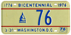 1975 reserved plate no. 76