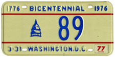 1976 reserved plate no. 89