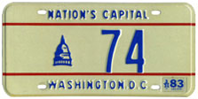 1982 reserved plate no. 74