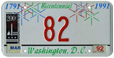 1991 optional reserved plate no. 82