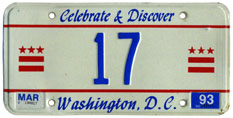 1992 reserved plate no. 17