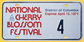 1971 National Cherry Blossom Festival plate no. 4