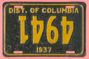 1937 plate with upside-down numbers