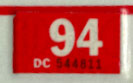 1993 (expires 1994) sticker, white on red