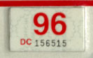 1995 (expires 1996) sticker, red on white
