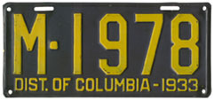 1933 plate no. M-1978