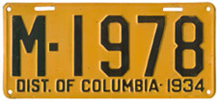 1934 plate no. M-1978