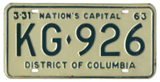 1962 plate no. KG-926
