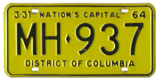 1963 plate no. MH-937