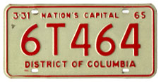 1964 plate no. 6T464