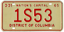 1964 plate no. 1S53